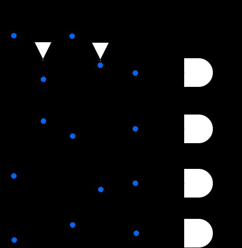 1x4 demultiplexer circuit